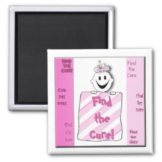 Find the Cure Baby Girl Breast Cancer Magnet