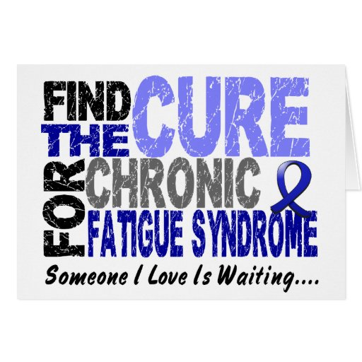 Find The Cure CFS Chronic Fatigue Syndrome Greeting Cards