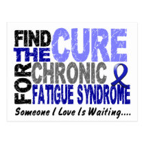 Find The Cure CFS Chronic Fatigue Syndrome Postcard