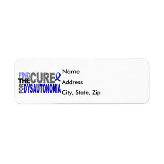 Find The Cure Dysautonomia Return Address Label