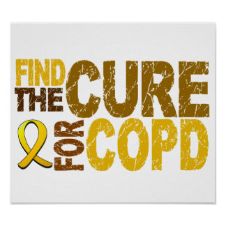 Find The Cure For COPD Print