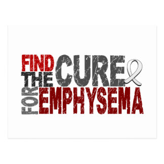 Find The Cure For Emphysema Postcard
