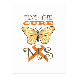 FIND THE CURE FOR MS POST CARD