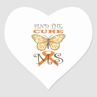FIND THE CURE FOR MS HEART STICKER