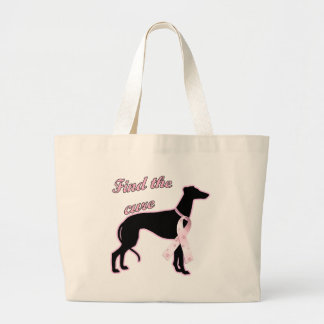 Find the Cure ~ Greyhound Canvas Bags