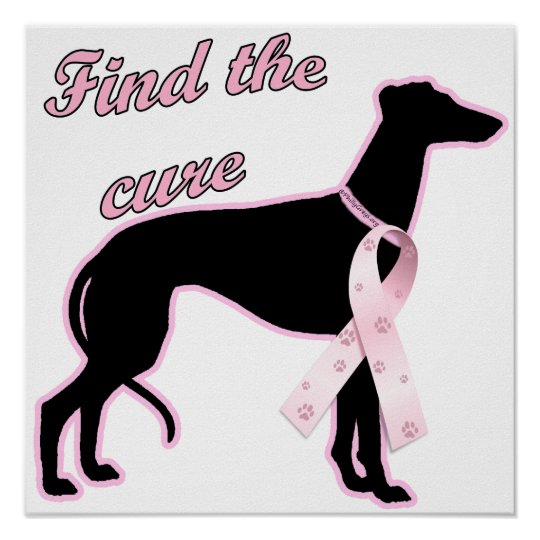 Find the Cure ~ Greyhound Poster
