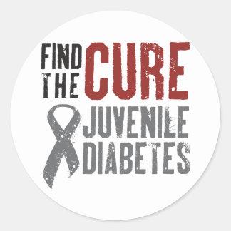 Find the Cure Juvenile Diabetes Classic Round Sticker