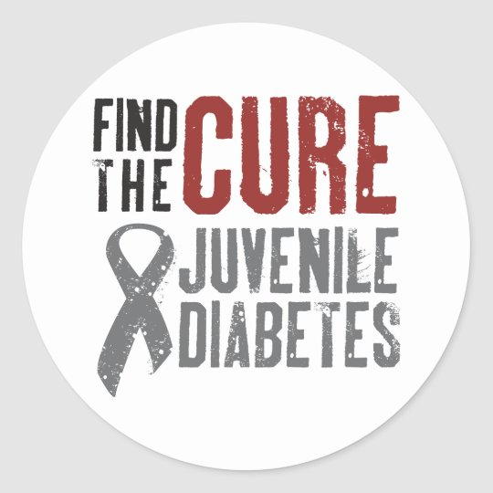Find the Cure Juvenile Diabetes Classic Round Sticker