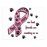 Find the Cure ~ Pawprint Post Cards