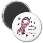 Find the Cure ~ Pawprint Refrigerator Magnets