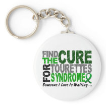 Find The Cure Tourette's Syndrome Keychain