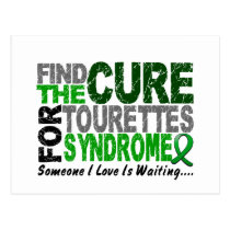 Find The Cure Tourette's Syndrome Postcard