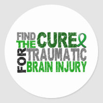 Find The Cure Traumatic Brain Injury TBI Classic Round Sticker