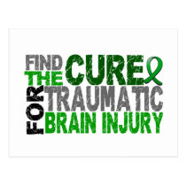 Find The Cure Traumatic Brain Injury TBI Postcard