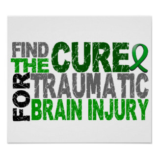 Find The Cure Traumatic Brain Injury TBI Poster