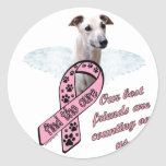 Find the Cure ~ Wings Classic Round Sticker