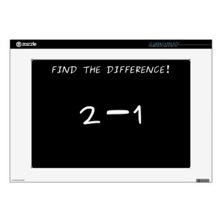 "Find the difference! 2 minus 1 15"" laptop skin"