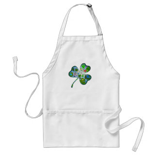 Find the four leaf clover adult apron