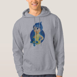 Men's Basic Hooded Sweatshirt with Inside Out's Joy design