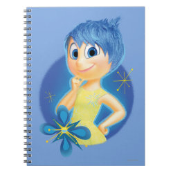 Photo Notebook (6.5' x 8.75', 80 Pages B&W) with Inside Out's Joy design