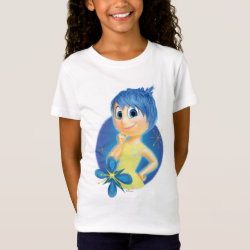Girls' Fine Jersey T-Shirt with Inside Out's Joy design