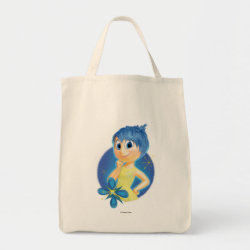 Grocery Tote with Inside Out's Joy design