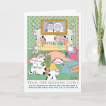 FIND THE HIDDEN COWS Birthday Card