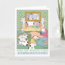 FIND THE HIDDEN COWS Birthday Card