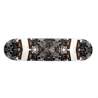 Find the hidden skulls with wooden cross skate deck