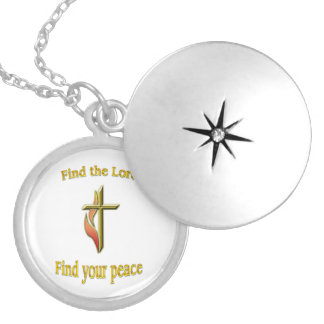Find the Lord find your peace Round Locket Necklace