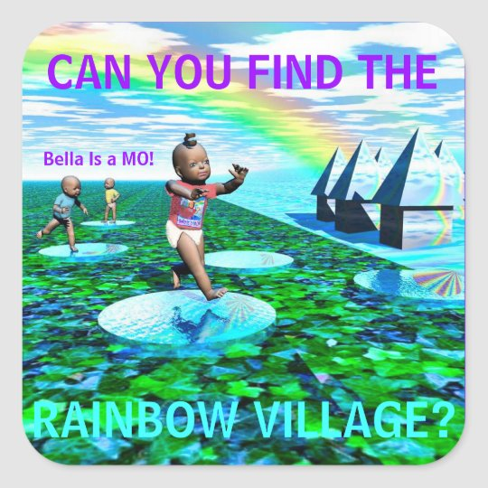 FIND the RAINBOW VILLAGE Sticker