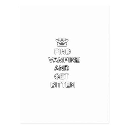 Find vampire and get bitten postcard