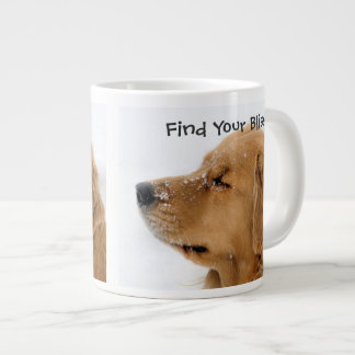 Find Your Bliss Golden Retriever 20 Oz Large Ceramic Coffee Mug