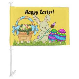 FIND YOUR CAR in the Parking Lot Easter FLAG