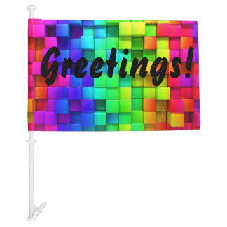 FIND YOUR CAR in the Parking Lot Greetings FLAG