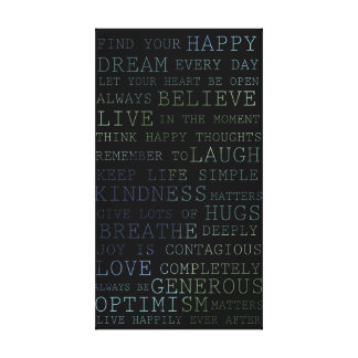 Find Your Happy Canvas Print