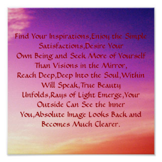 Find Your Inspirations,Enjoy the Si... Print