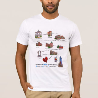 Find Your MAP to Boston T-Shirt