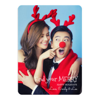 Find Your Merry Photo Holiday Card
