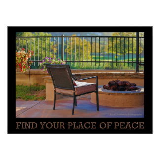 Find Your Place Of Peace Poster