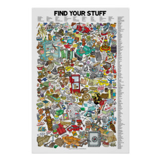 FIND YOUR STUFF. Search for over 200 items! Poster