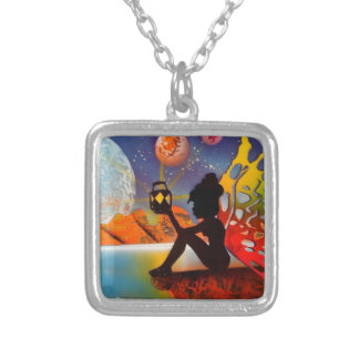 Find your way HOME Square Pendant Necklace