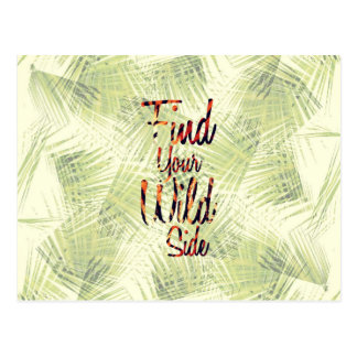 """Find Your Wild Side"" Typography Postcard"