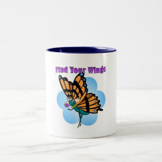 Find your wings Two-Tone coffee mug