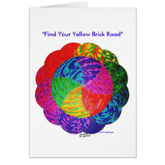 """""""Find Your Yellow Brick Road"""" Note Card"""