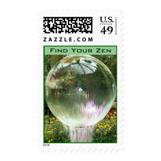 Find Your Zen postage stamp