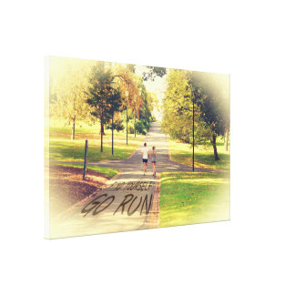 Find Yourself Go Run at Fitzroy Gardens Melbourne Stretched Canvas Prints