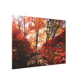 Find Yourself Go Run Autumn Runners Motivational Canvas Print