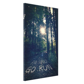 Find Yourself Go Run Inspirational Runners Quote 6 Canvas Print