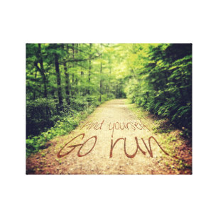 Running quotes wrapped canvas prints zazzle find yourself go run inspirational runners quote canvas print solutioingenieria Gallery